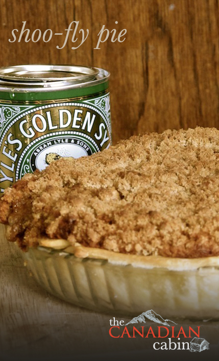 Shoofly pie, a Canadian pie recipe using golden syrup
